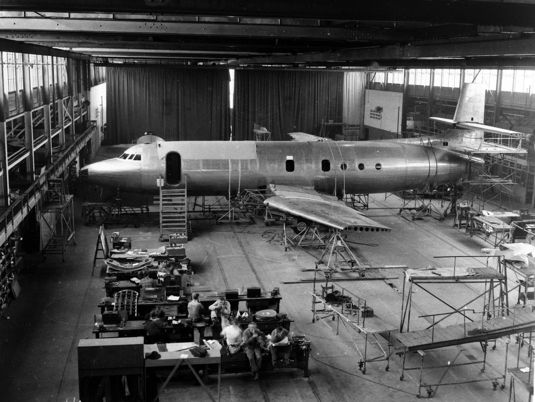 Avro Jetliner prototype in design shop