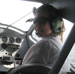 CAHS National President, Danielle Metcalfe-Chenail, in the right seat of Joe's Norseman during the bush pilot memorial fly-by.