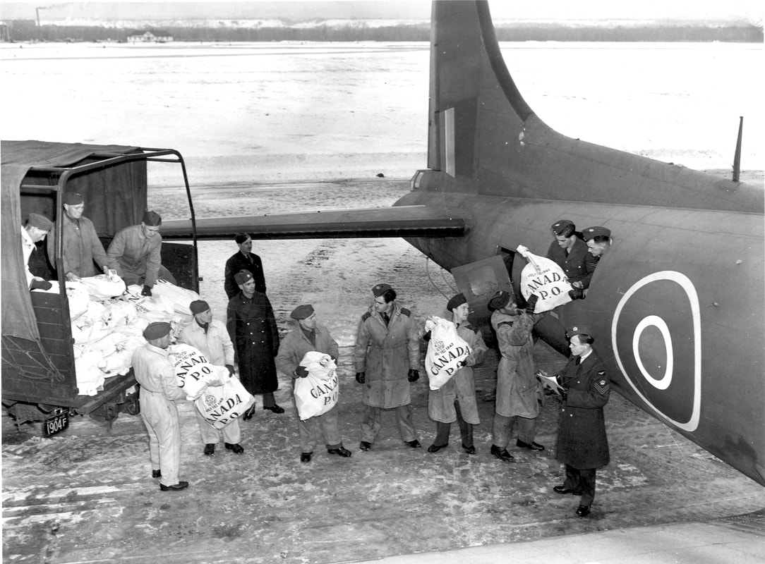 RCAF Fortress mailplane  being loaded