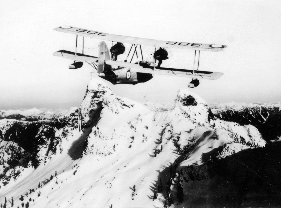 RCAF Vickers Vancouver serial 306 over the Canadian Rockies